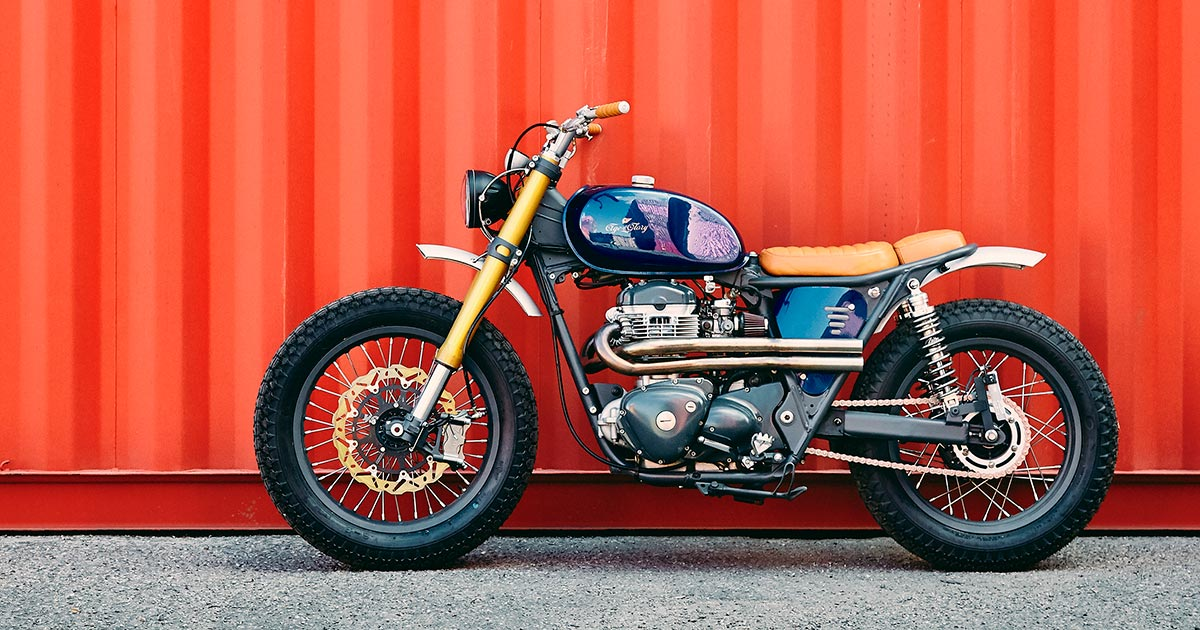 French dressing: A chic Kawasaki W650 from Lyon