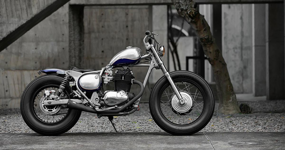Silver Star: 2LOUD bobs Kawasaki's tiny BJ250 Estrella