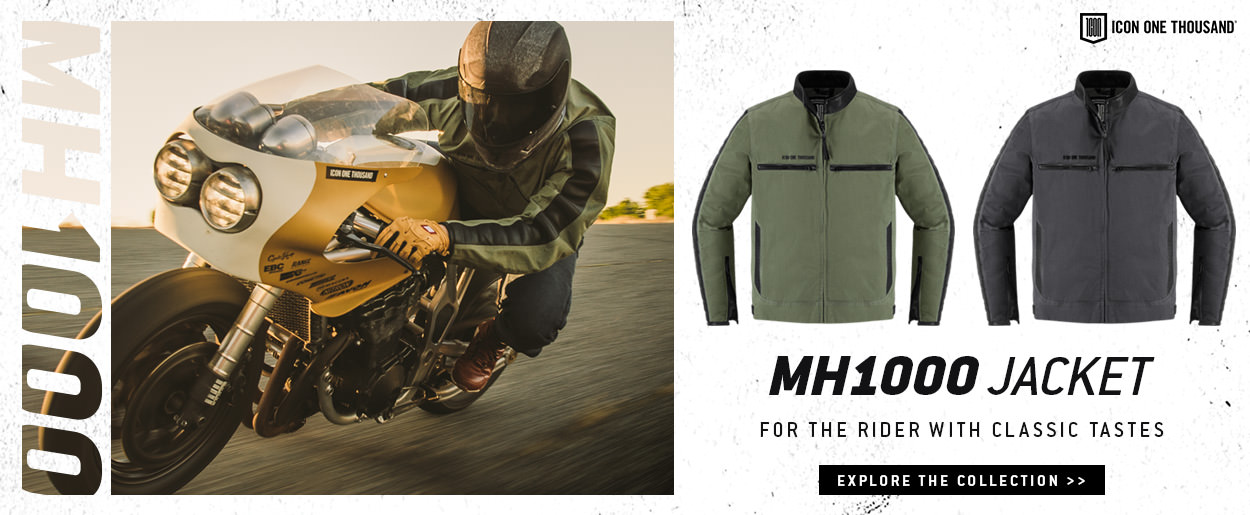 The new ICON 1000 MH1000 motorcycle jacket