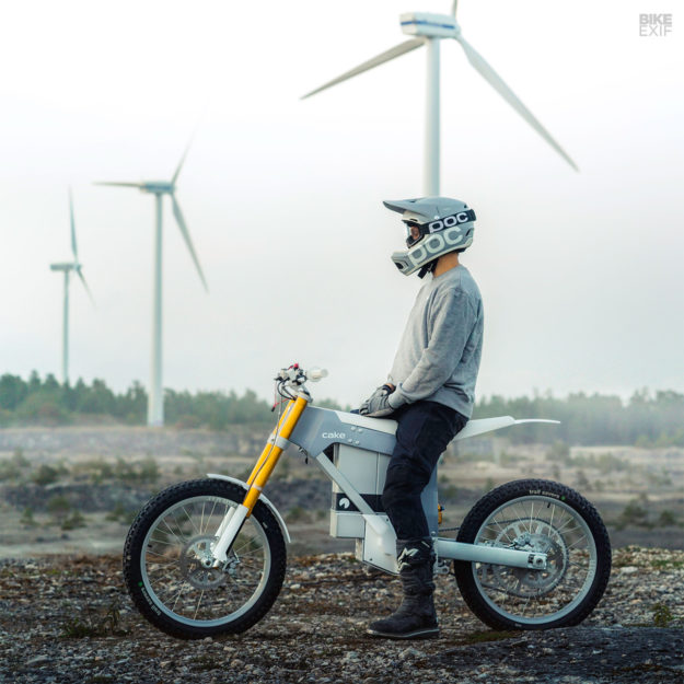 The CAKE electric offroad motorcycle