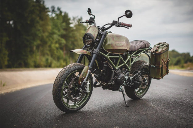 Custom Ducati Hypermotard scrambler