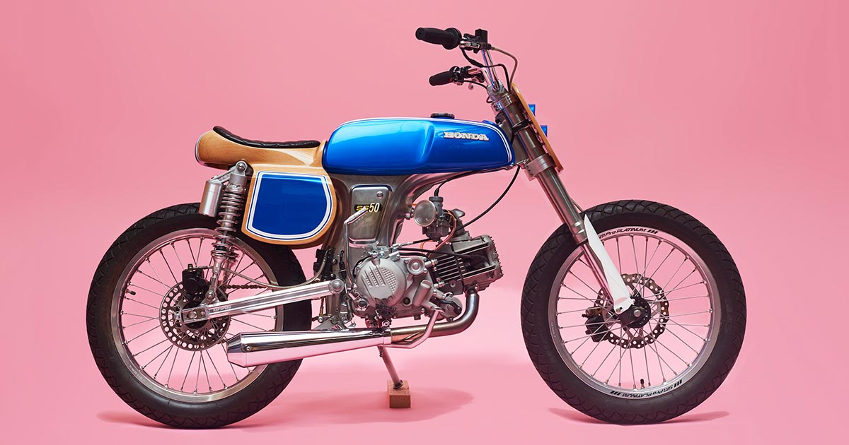 This tiny Honda SS50 is called 'Wild Horse' for a reason