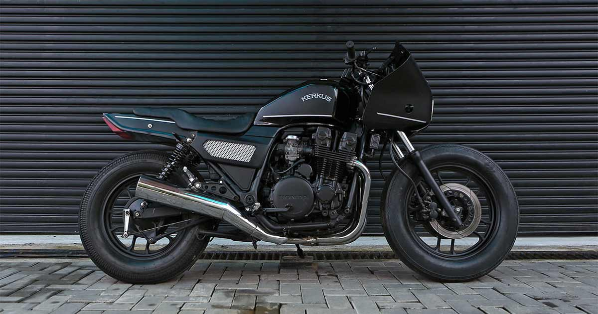 An ex-police Honda CBX750 returns to the streets