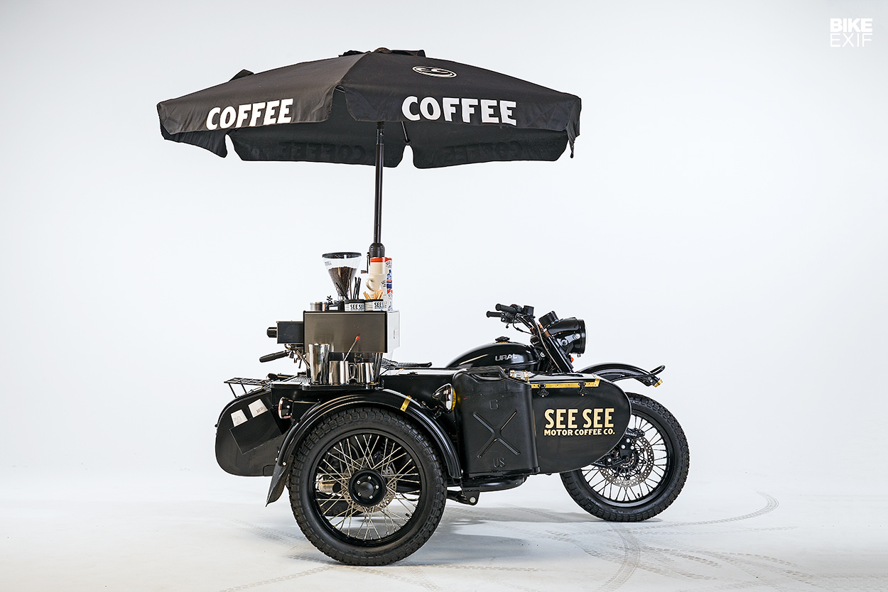 More café than racer: The Ural sidecar with a built-in espresso machine