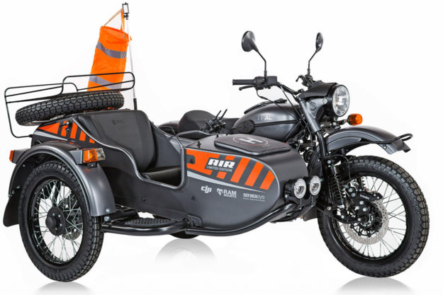 Ural Air limited edition sidecar motorcycle with drone