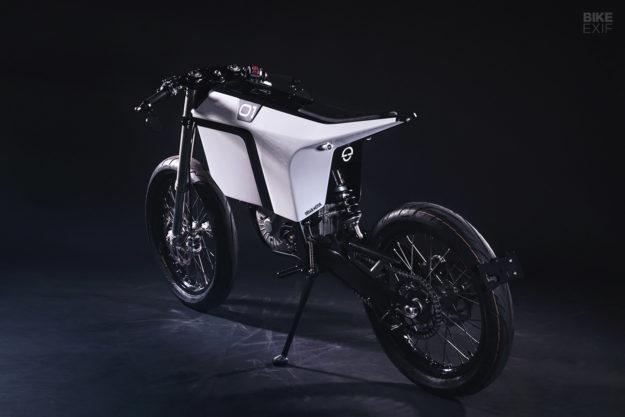 A custom KTM electric bike built by Urban Motor for Schuberth