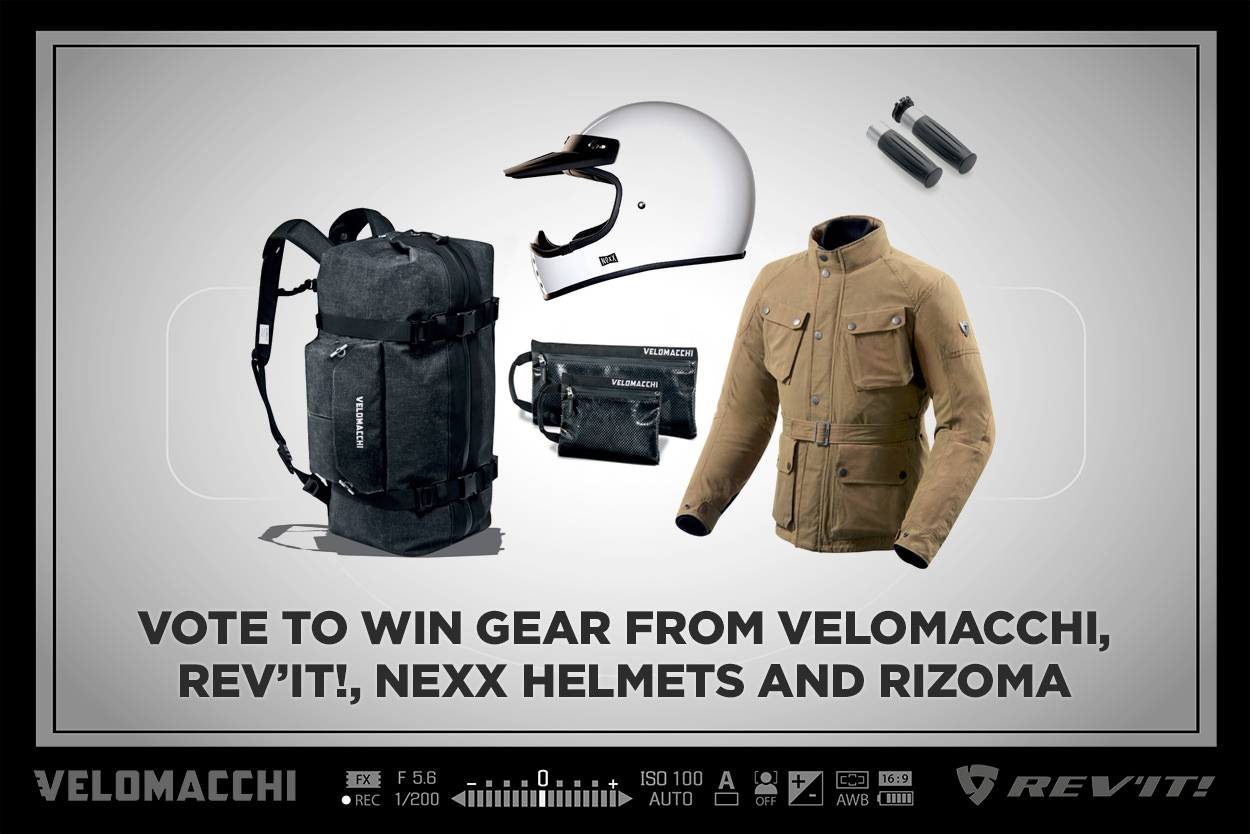 Win gear from Velomacchi, REV'IT!, NEXX and Rizoma