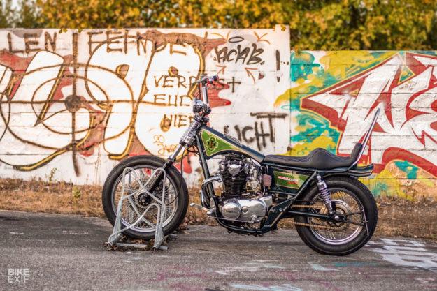 Banana Bike! A Yamaha XS650 inspired by 1970s chopper bicycles