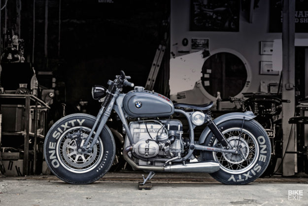 A BMW-powered custom bobber motorcycle by Renard Speed Shop