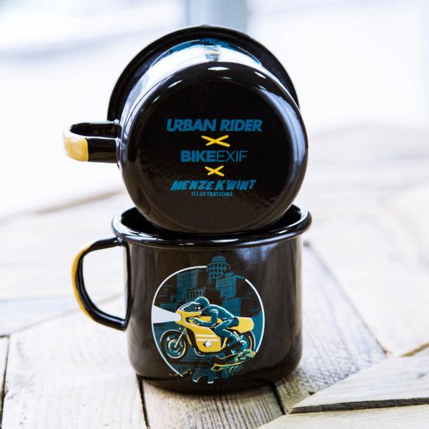 Menze Kwint x Bike EXIF enamel motorcycle mug