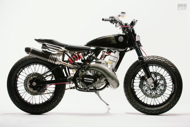 Dani Pedrosa's Honda CR500 street tracker motorcycle