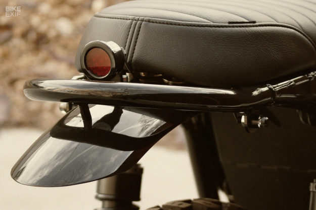 Custom Triumph Bonneville Scrambler owned by Ben Giese, editor of Meta Magazine