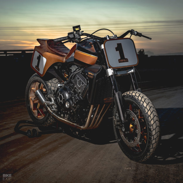 Honda Garage Dreams: A CB1000R tracker customized by Comercial Impala of Barcelona.