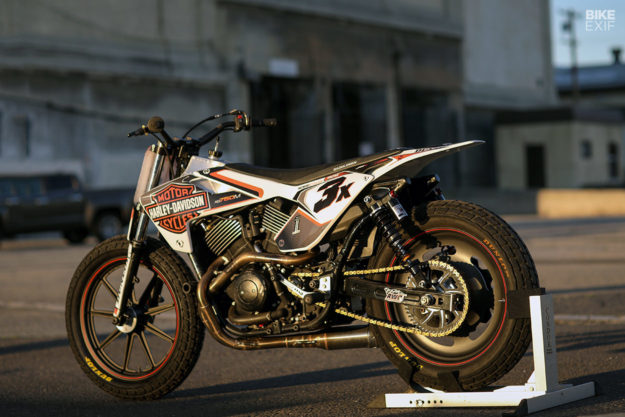 A Street Rod 750 Hooligan racer by Noise Cycles