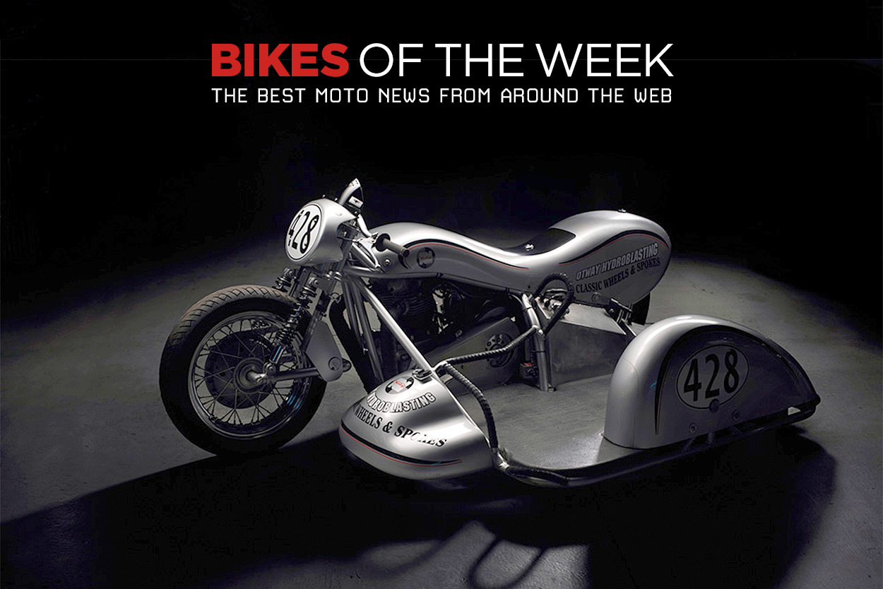 The best cafe racers, customs and sidecars from around the web.