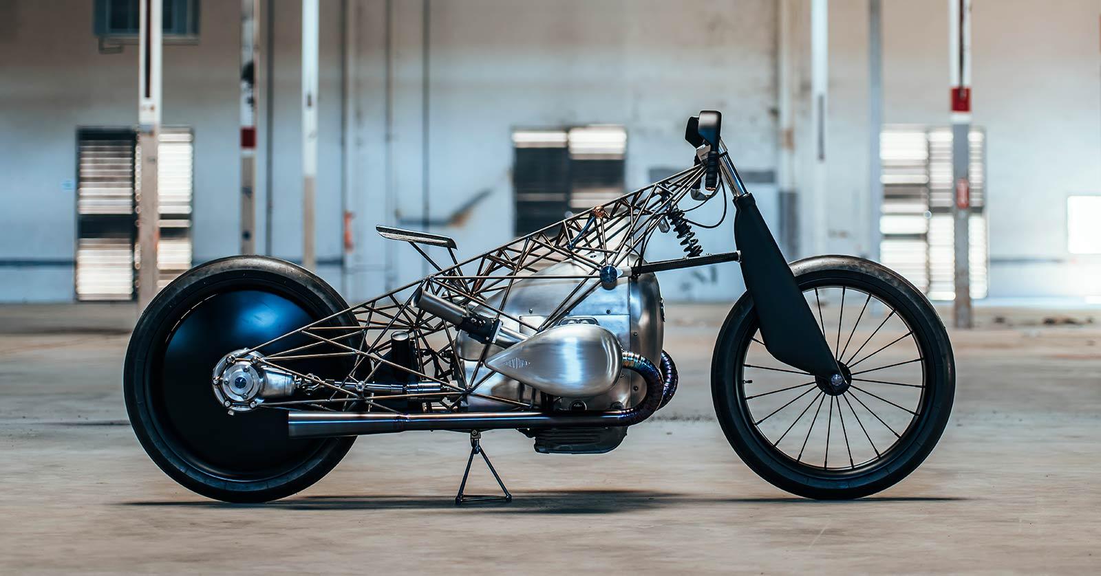 Birdcage: Revival Cycle's Titanium-Caged BMW Boxer