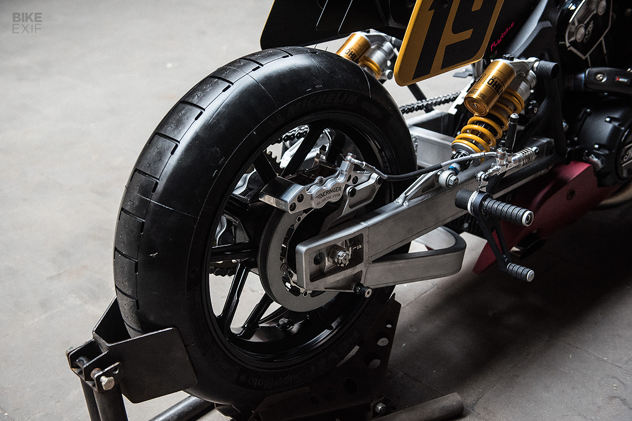 Indian Scout Bobber drag bike by Workhorse