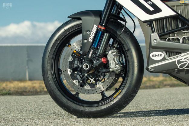 The Pikes Peak Zero SR/F electric racing motorcycle