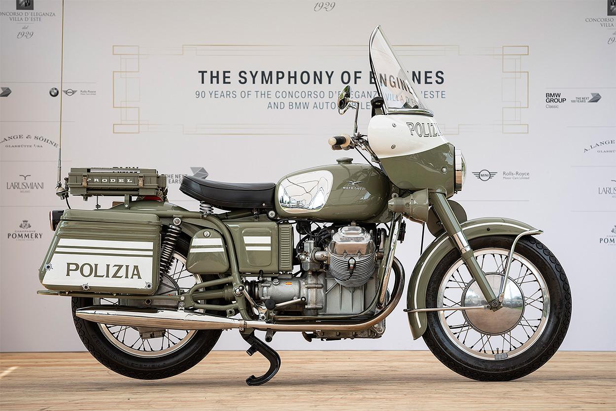 1968 Moto Guzzi V7 at the 2019 Concorso d'Eleganza