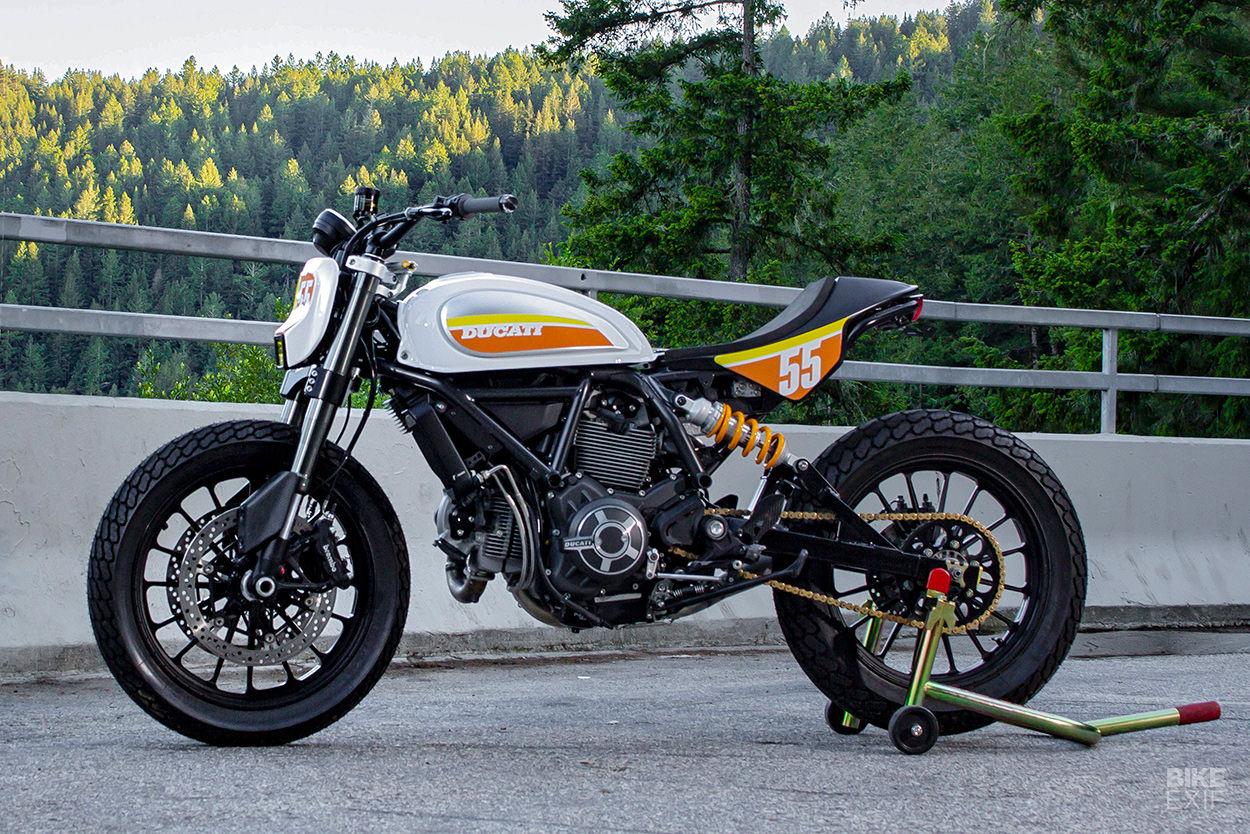 Sleeper: A 2016 Ducati Scrambler heavily modified by Zero Motorcycles engineer Tom Zipprian