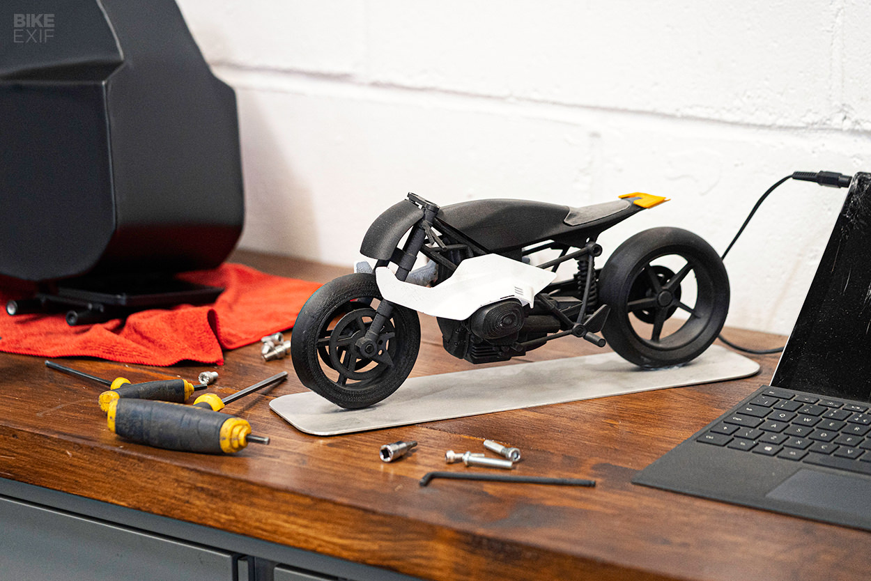 Design model for the BMW R nineT concept motorcycle by Auto Fabrica