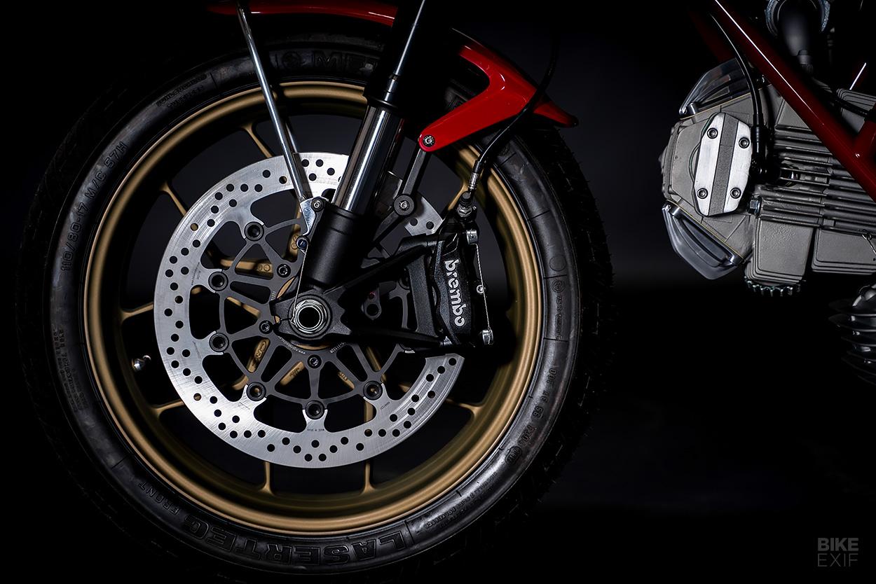 Square case Ducati bevel engine custom by Walt Siegl