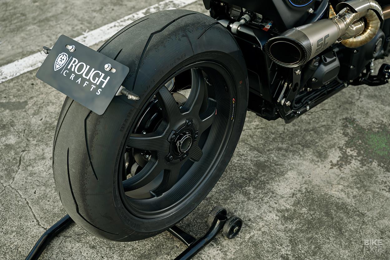 Tarmac Raven: A Harley-Davidson Street Bob custom from Rough Crafts
