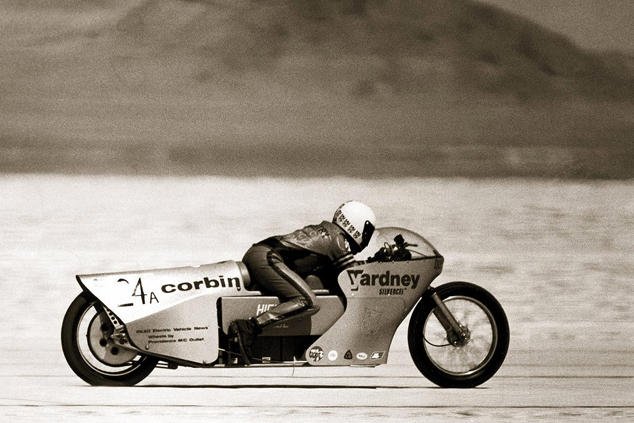Mike Corbin's Quicksilver electric land speed motorcycle