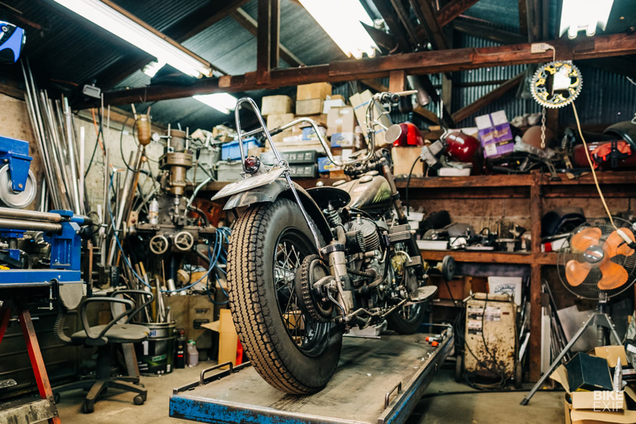 Cheetah custom Japanese motorcycle workshop