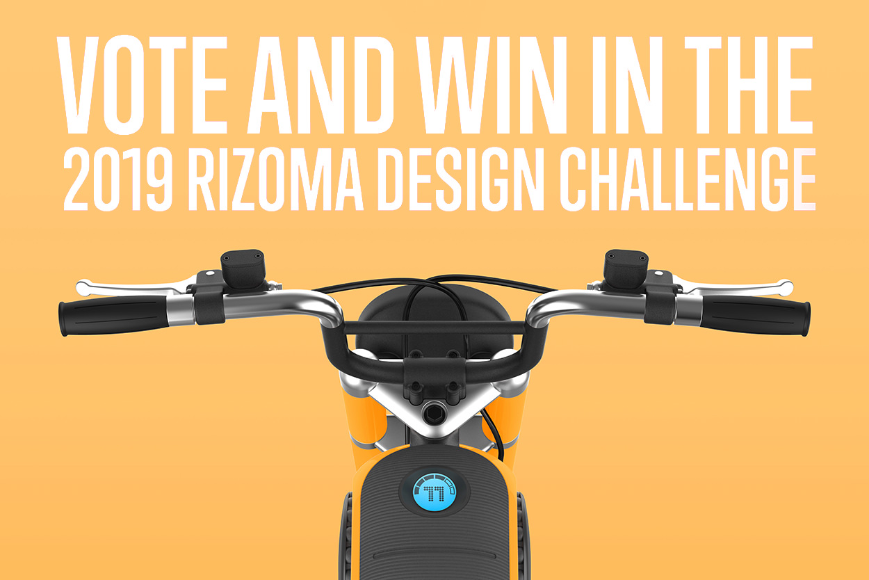 Vote and win $500 of gear in the Rizoma Design Challenge